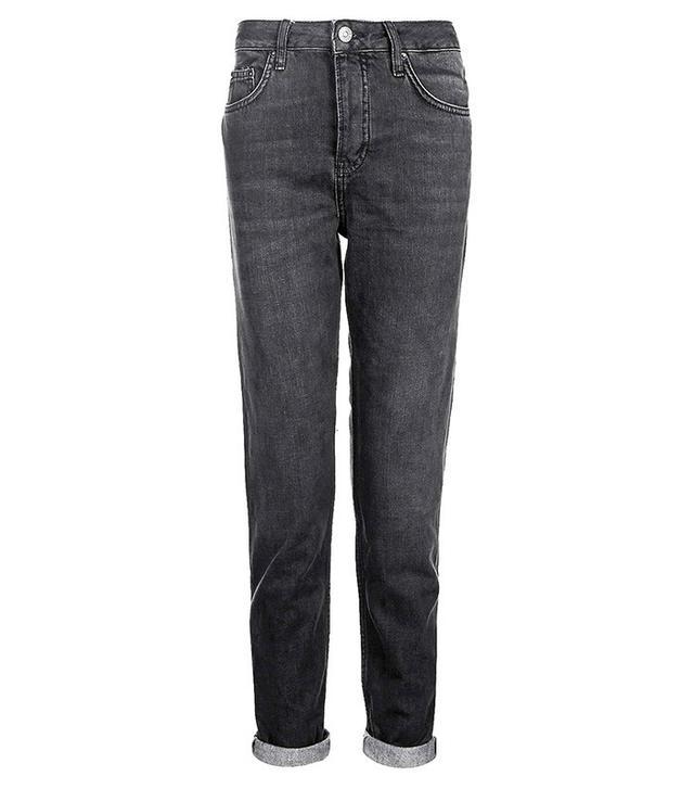 Topshop Moto Washed Black Hayden Boyfriend Jeans