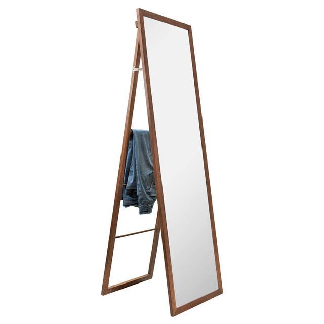 Target Wooden Storage Mirror with Ladder