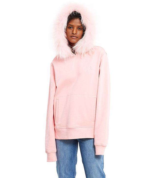 Opening Ceremony Fur Trimmed Hoodie
