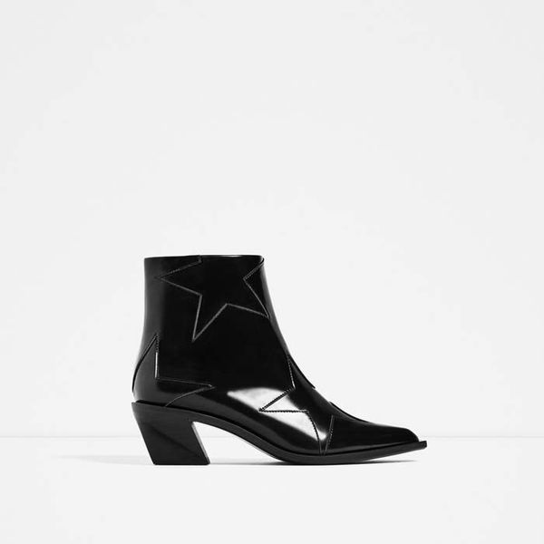 Zara Stars High-Heels Ankle Boots