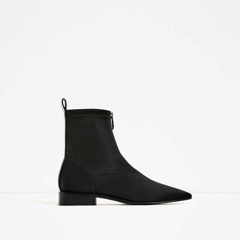 Flat Pointed Ankle Boots