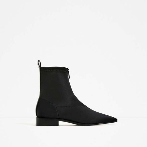 Zara Flat Pointed Ankle Boots