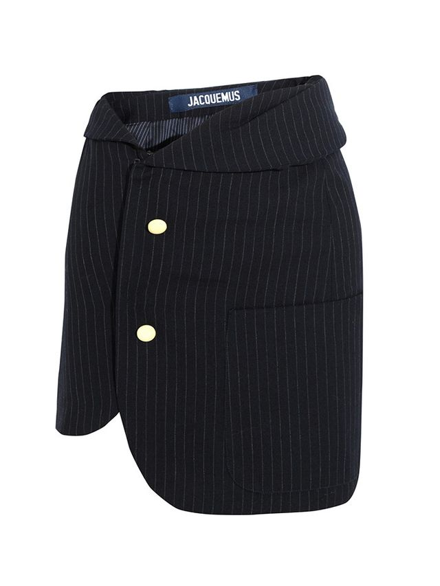 Jacquemus Pinstriped Wool Mini Skirt