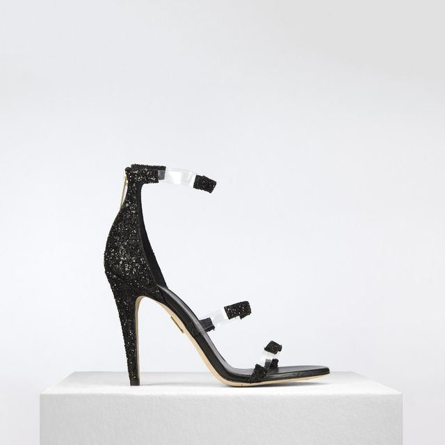 Tamara Mellon Frontline Glitter in Black