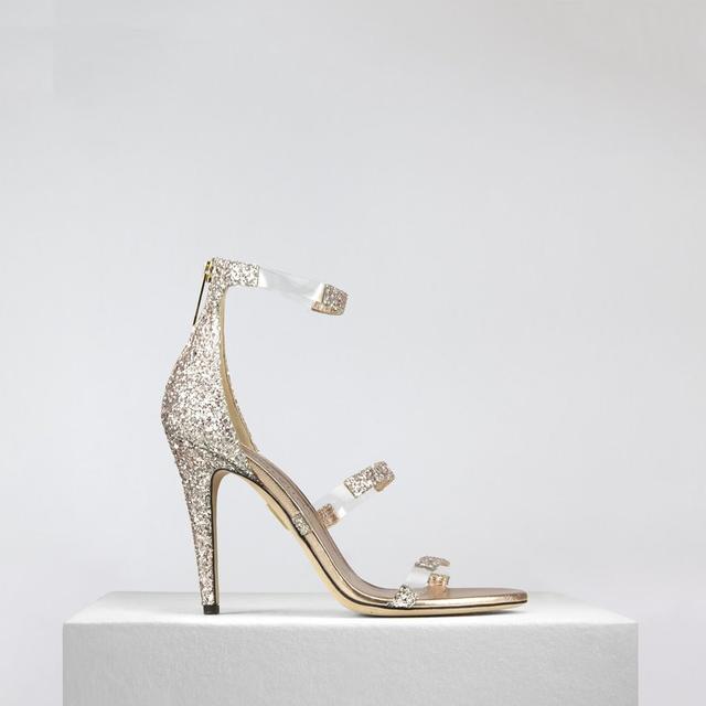 Tamara Mellon Frontline Glitter in Blush