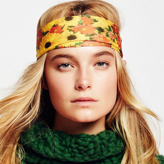 Bun hairstyles: Free People Clarissa Printed Headband