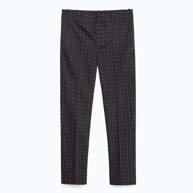 Zara Mid-Rise Skinny Trousers