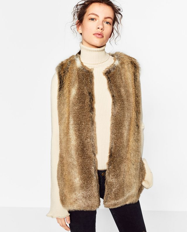 Zara Faux Fur Waistcoat