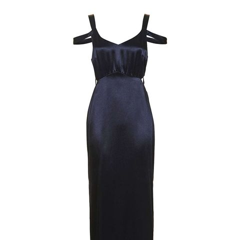 Cold Shoulder Slip Midi Dress
