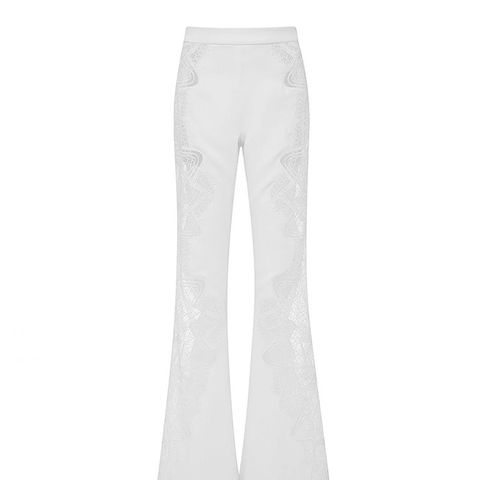 Lace Applique Wide Leg Pant