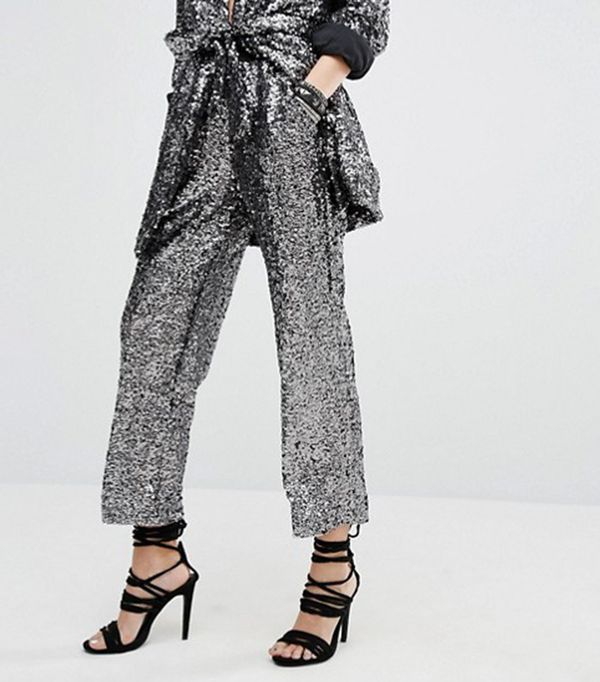 Religion Holidays Awkward Length Pants In Sequin Co-Ord