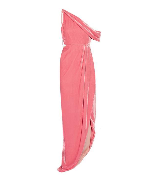 Monse One-Shoulder Cutout Velvet Gown