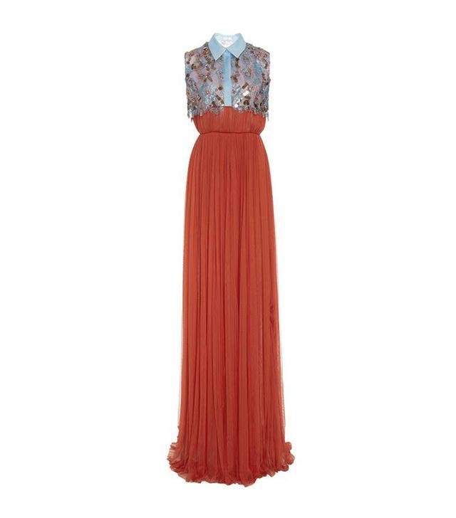 Delpozo Long Tulle Dress