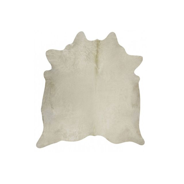 Temple & Webster Natural White Cow Hide Rug