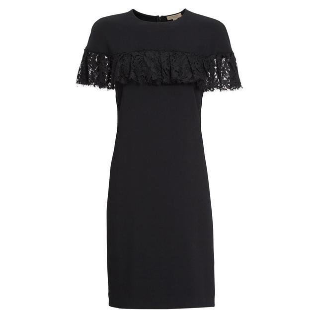Burberry Enzamf Lace Ruffle Shift Dress