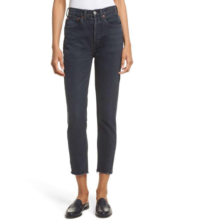 Women's Re/done High Waist Crop Jeans
