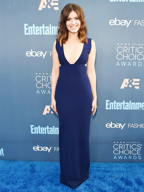 WHO: Mandy Moore WEAR: Forevermark jewelry.