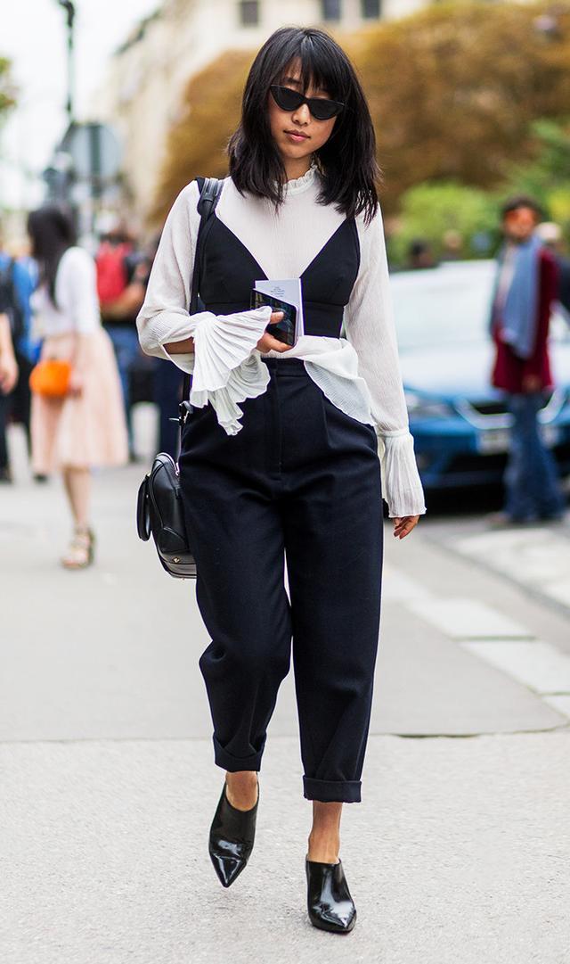 Margaret Zhang outside Chloe on September 29, 2016 in Paris, France.