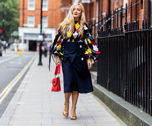 Kate Foley outside of JW Anderson during London Fashion Week SS2017 in London, United Kingdom.