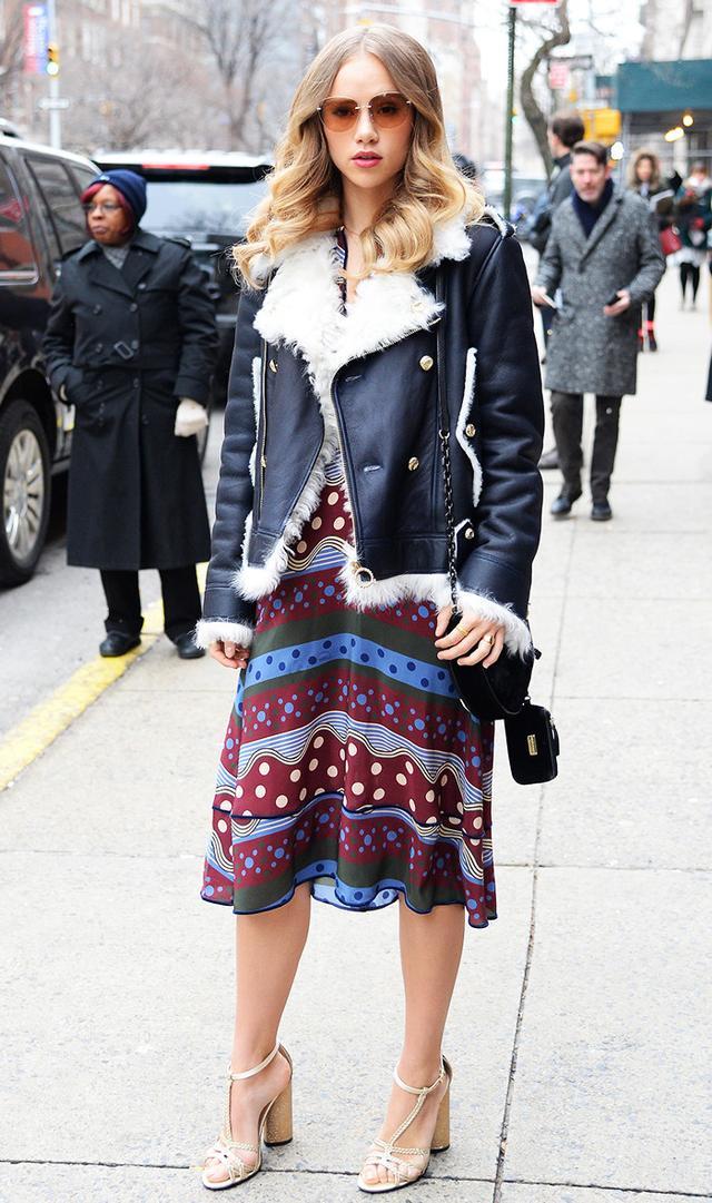 Suki Waterhouse at Tommy Hilfiger fashion show during Fall 2016 Fashion Week