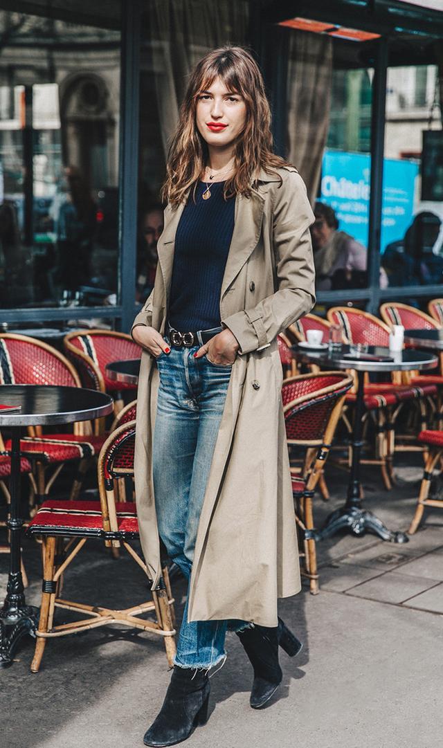 Jeanne Demas street style at Paris Fashion Week Fall 2016