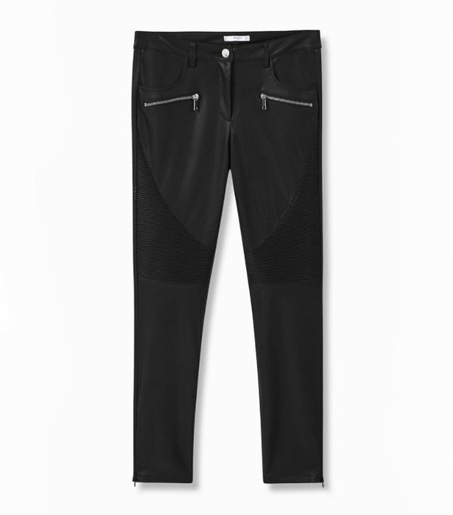 Mango leather skinny trousers