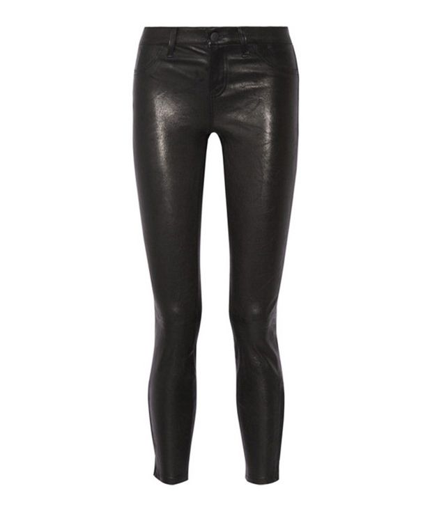 Leather skinny jeans