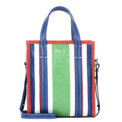 Bazar Shopper XS Striped Leather Shopping BHag