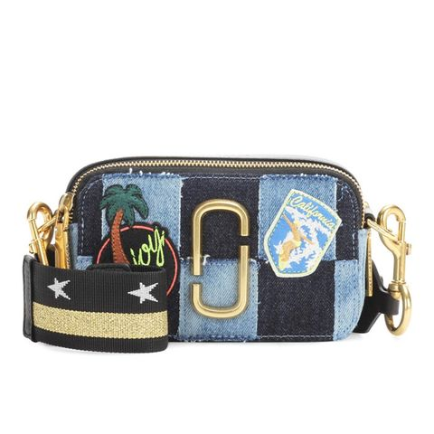 Snapshot Small Appliqué Denim Camera Bag