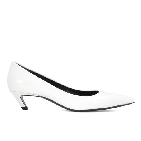 Patent Leather Kitten Heel Pumps