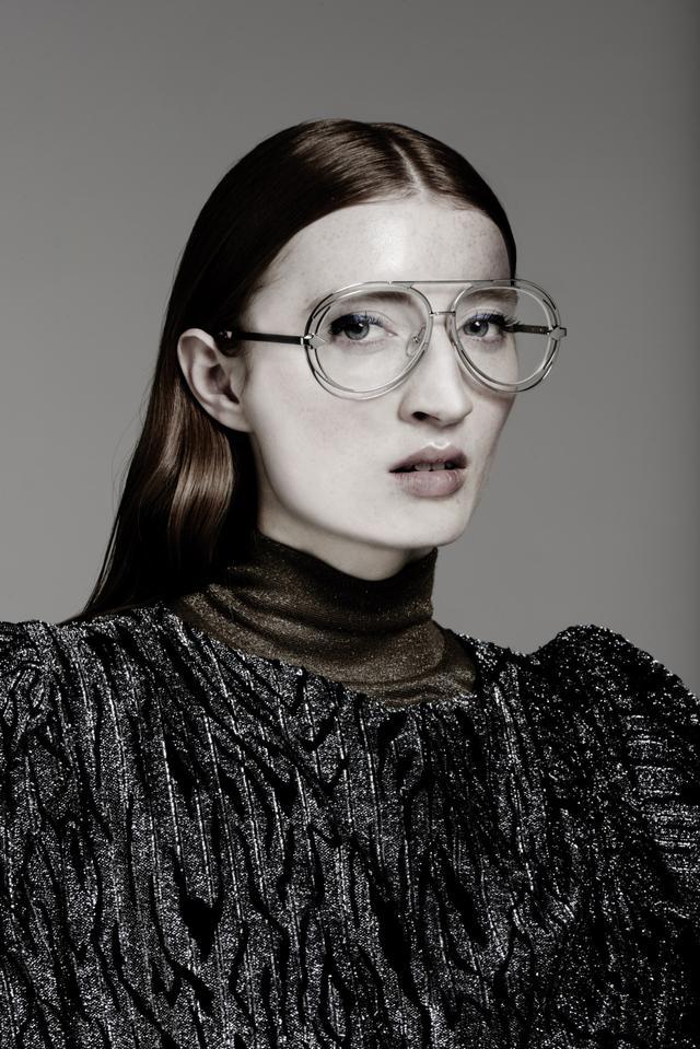 Karen Walker Jacques Silver Clear Lens