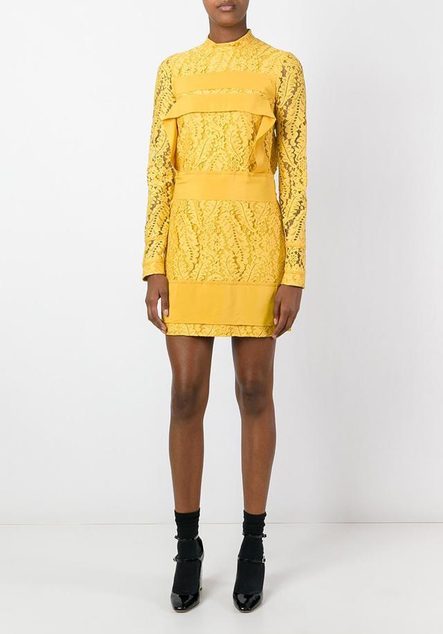 No 21 Long-Sleeve Lace Dress