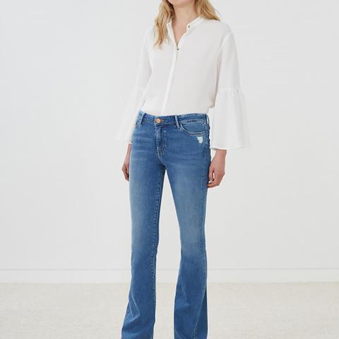 Bodycon Marrakesh Mid-Rise Slim Kick Flare Jean