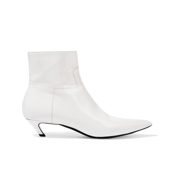 Balenciaga Patent-Leather Ankle Boot