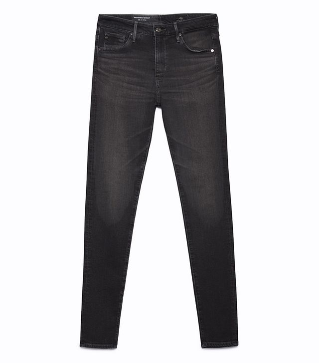 AG The Farrah Skinny Jeans in Grey Mist