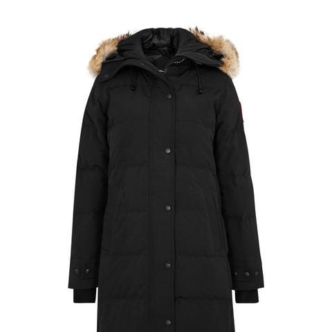 Shelburne Black Fur-Trimmed Parka