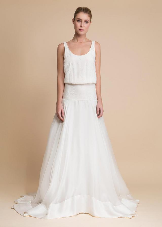 Delphine Manivet Lubin Silk and Lace Dress