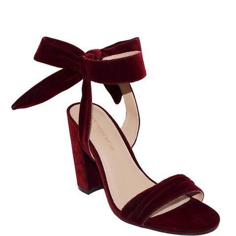 Michaela Velvet Ankle Tie Heels