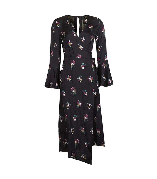 Topshop Boutique Bouquet Wrap Dress