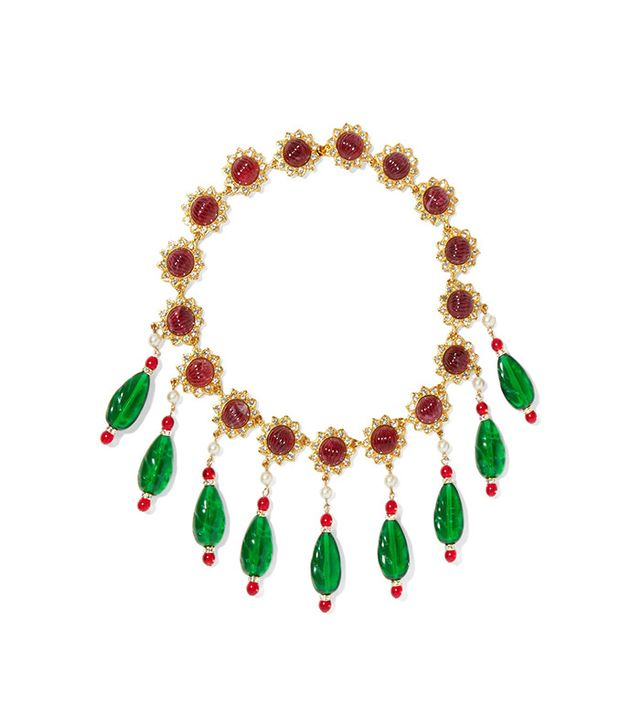 Kenneth Jay Lane Gold-Plated Multi-Stone Necklace