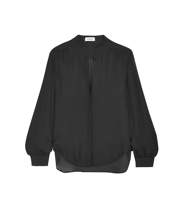 L'Agence Bianca Silk-Georgette Blouse
