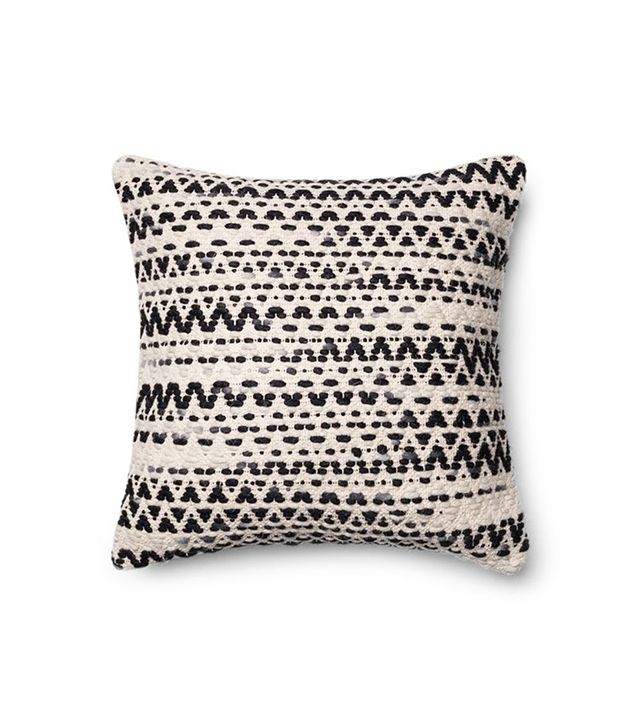 TRNK Handwoven Jute Cotton Wool Accent Pillow