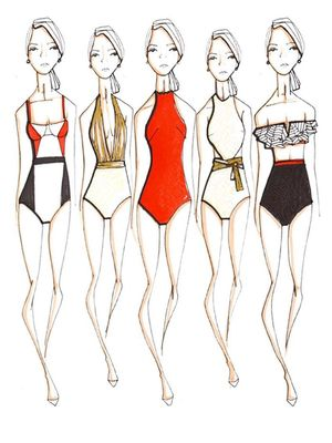 Of Course Oscar de la Renta Created the Chicest Swimsuits Imaginable
