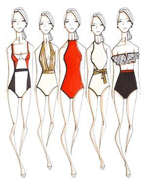 Of Course Oscar de la Renta Created the Chicest Swimsuits Imaginable