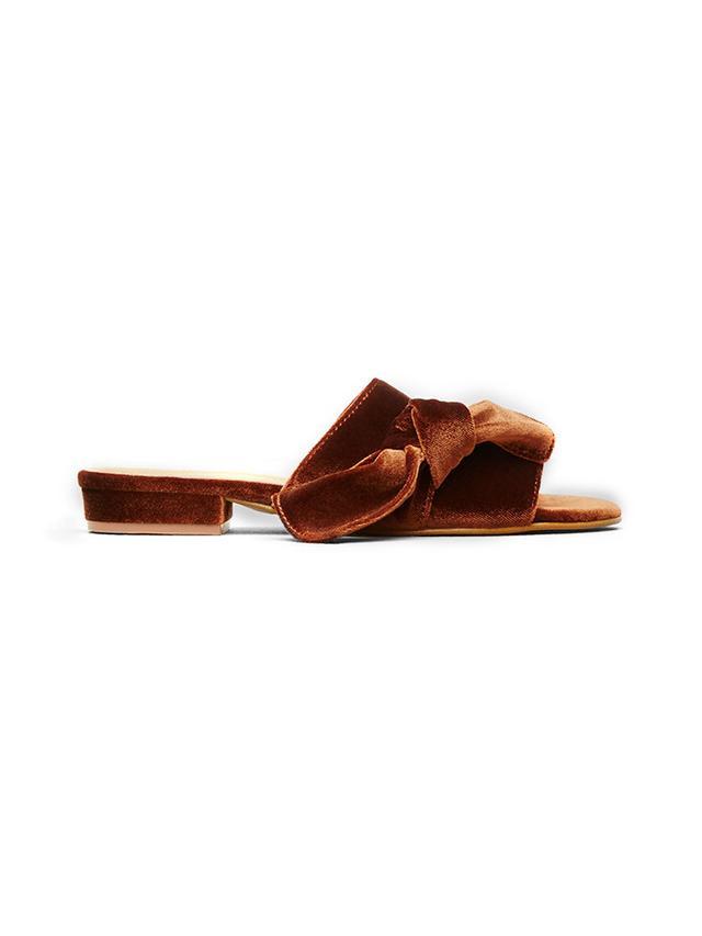 Kenneth Cole Candice Velvet Slide Sandals