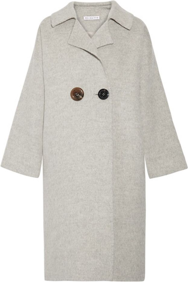 Rejina Pyo Kate Color-Block Alpaca and Wool-Blend Coat
