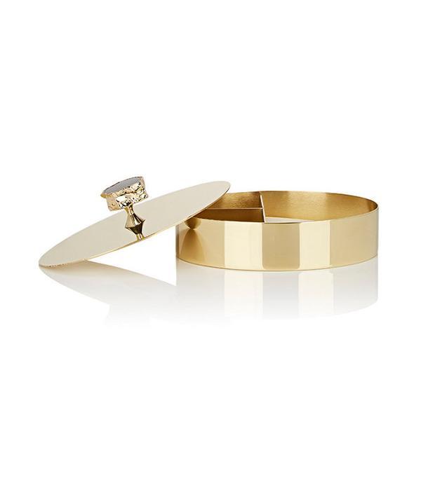 Anna New York Héritage 24k Gold & Obsidian Vanity Box