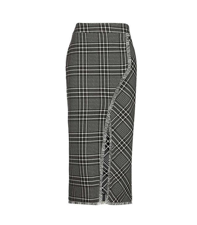 Topshop Cutabout Check Midi Skirt