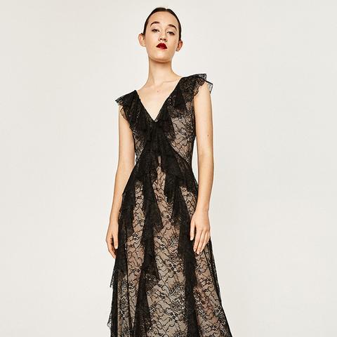 Lace Studio Frilled Dress