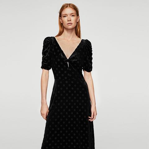 Polka Dots Velvet Dress